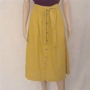 Madewell Tie Palisade Midi Skirt Golden Meadow - 4